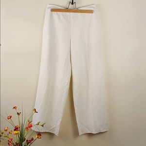 Linen lined pants white classic sophisticated